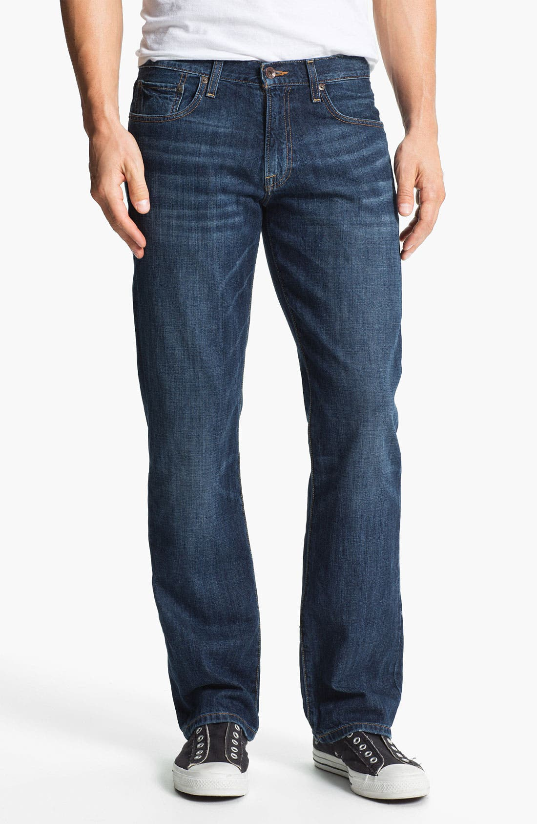 Main Image - Lucky Brand '221 Original' Straight Leg Jeans (Medium Temescal)
