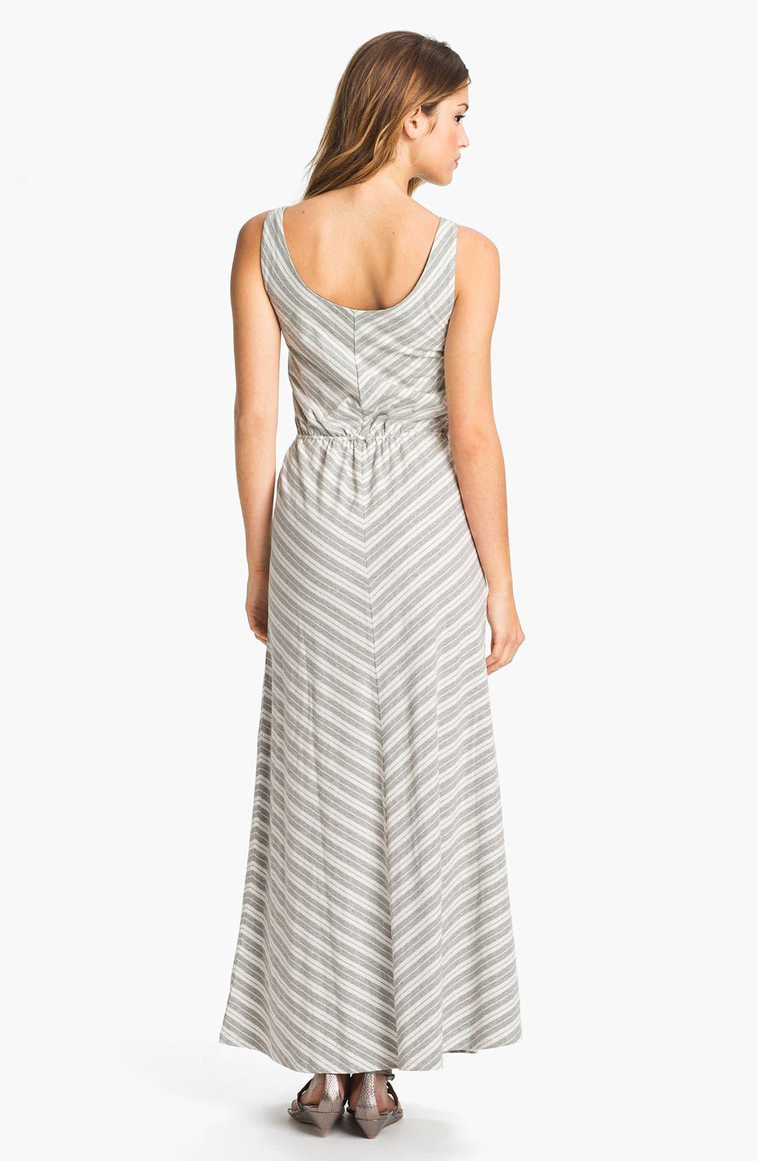 Alternate Image 2  - Olive & Oak Chevron Stripe Maxi Dress