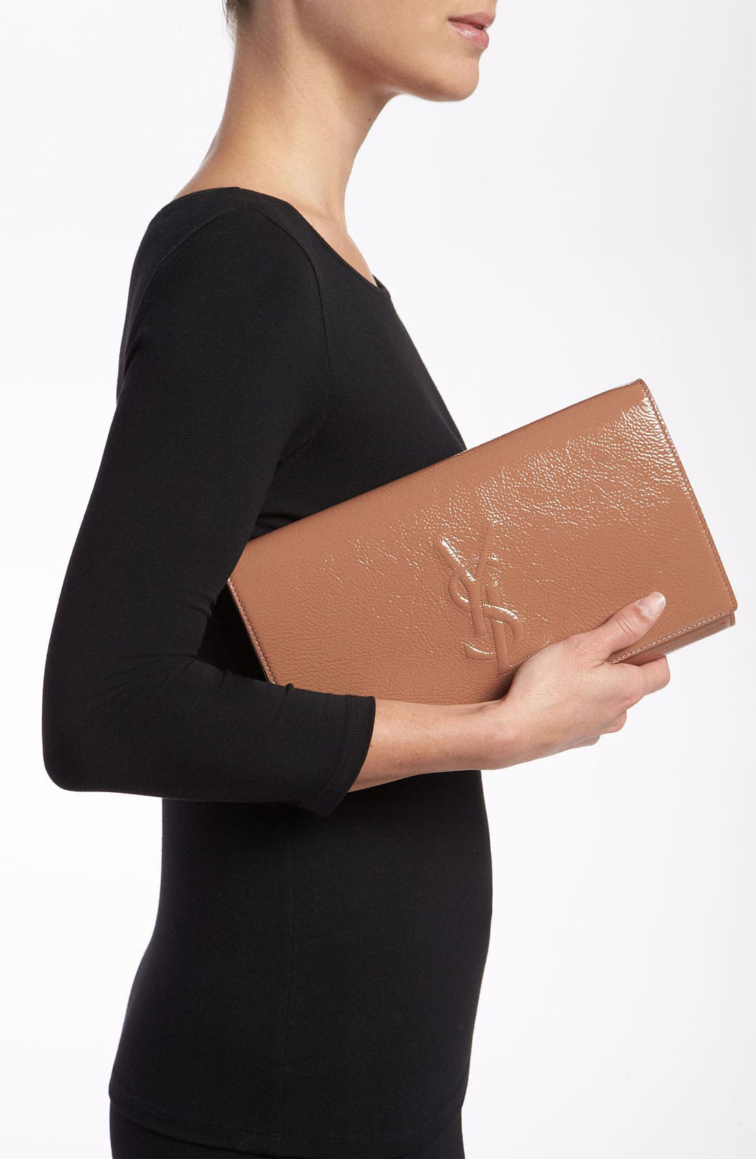 Alternate Image 2  - Saint Laurent 'Belle de Jour' Patent Leather Clutch