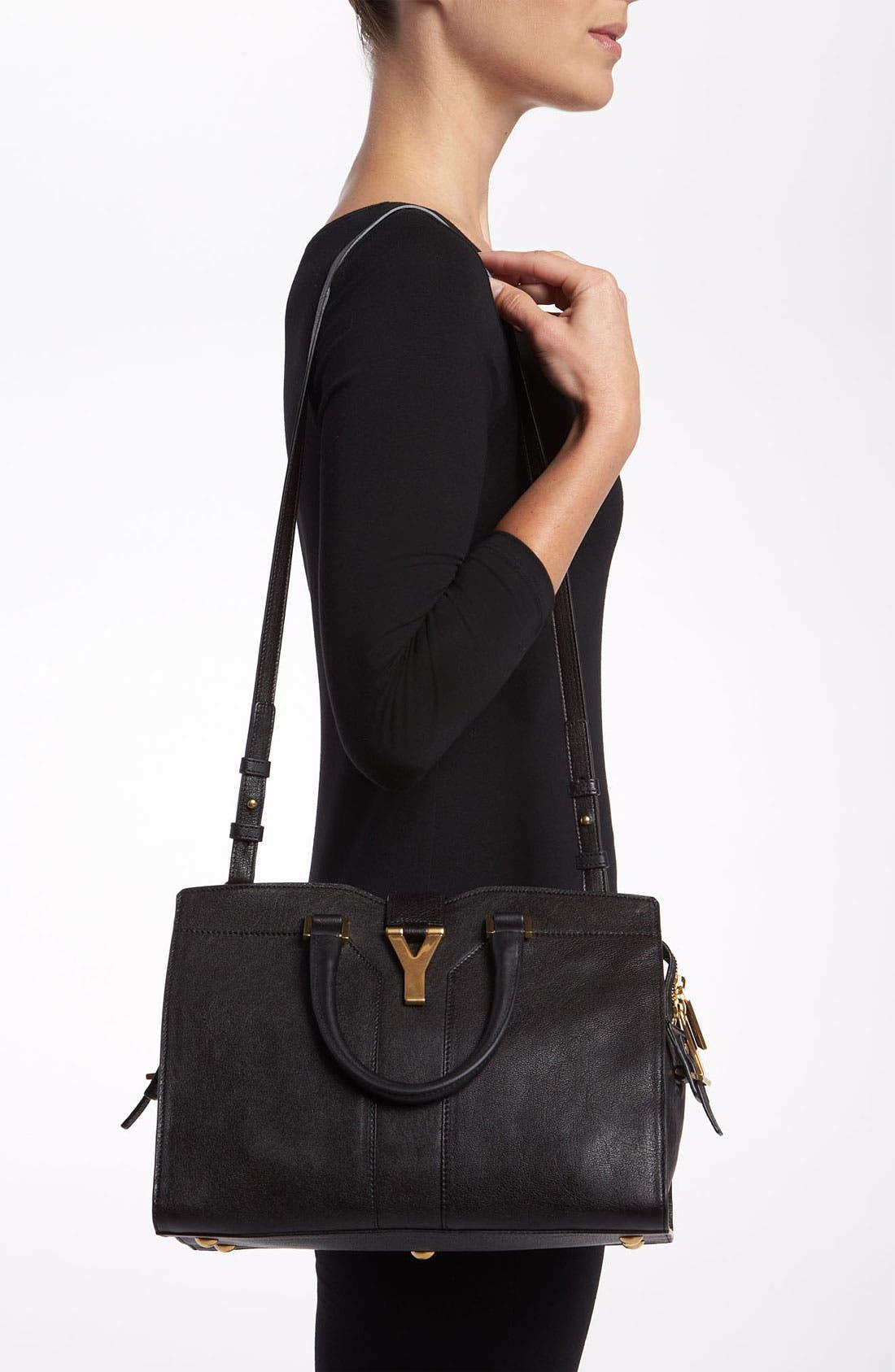 Alternate Image 2  - Saint Laurent Paris 'Cabas Chyc - Mini' Leather