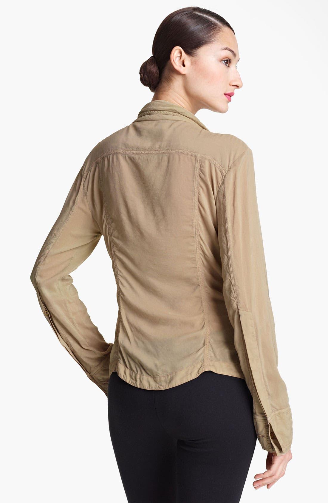 Alternate Image 2  - Donna Karan Collection Crepe Shirt