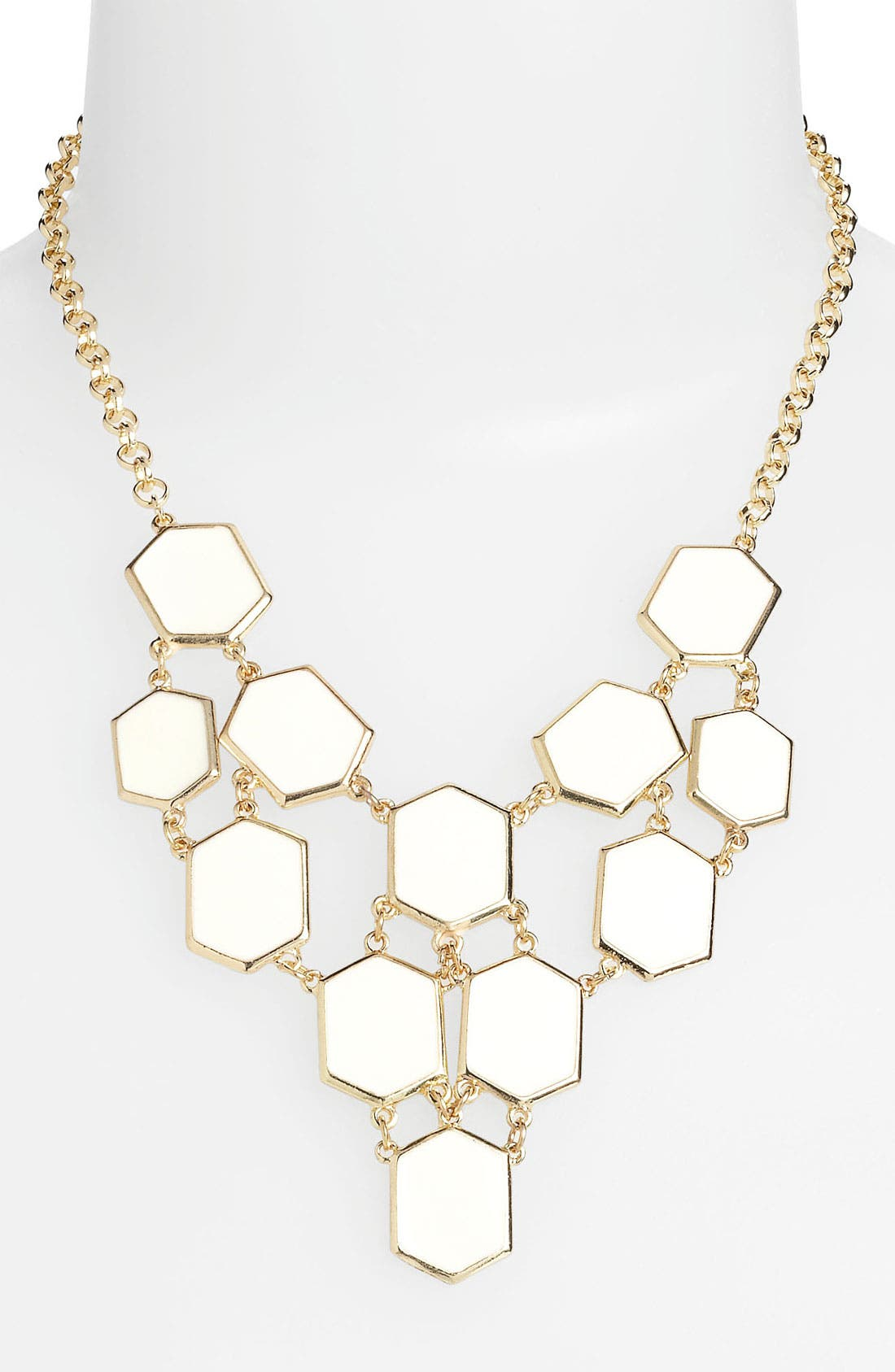 Main Image - Carole Enamel Hexagon Bib Necklace (Online Exclusive)