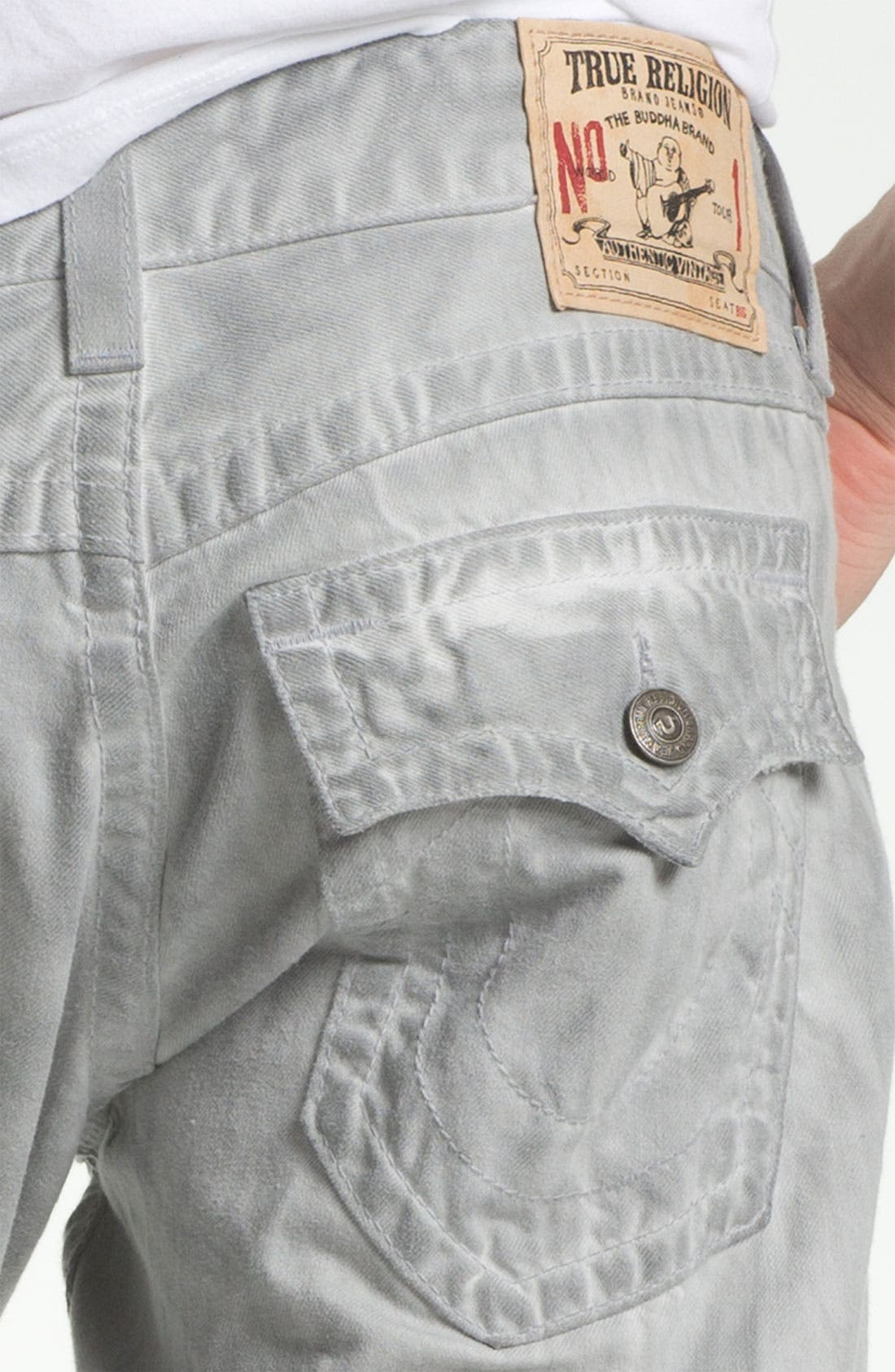 Alternate Image 4  - True Religion Brand Jeans 'Ricky' Straight Leg Jeans (Pebble)