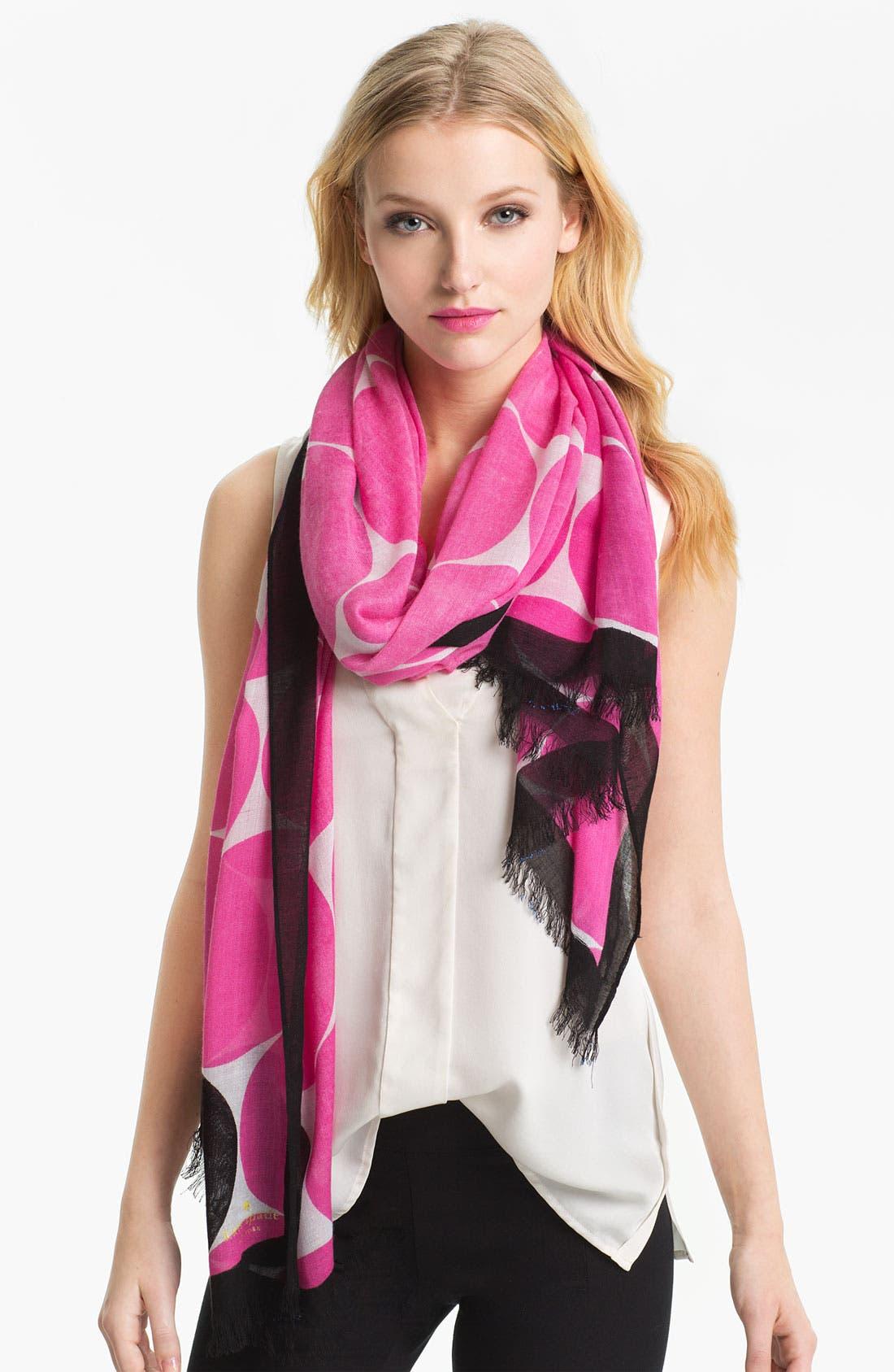 Main Image - kate spade new york 'deborah' dot scarf