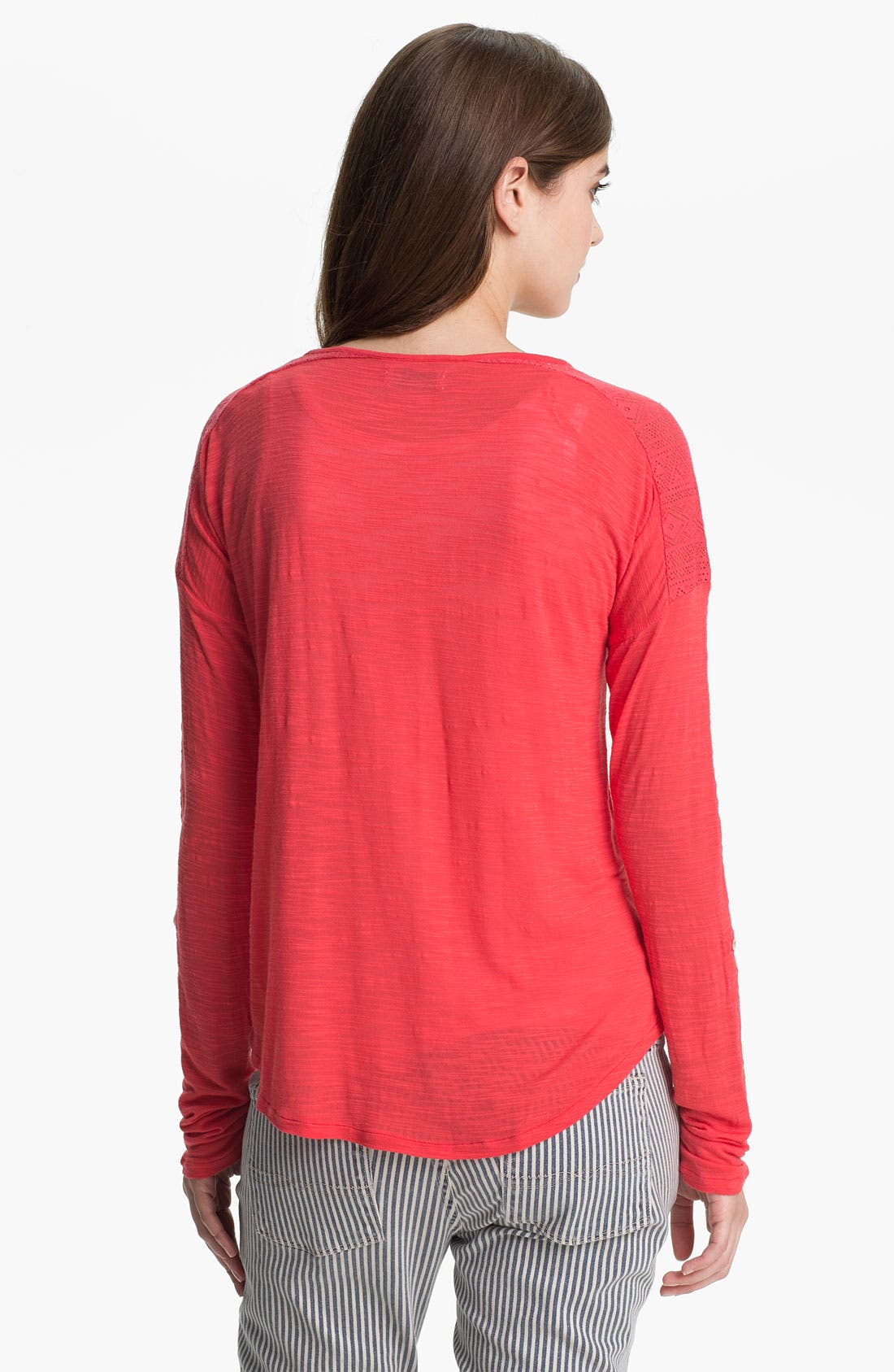Alternate Image 2  - Lucky Brand 'Carla' Lace Trim Henley