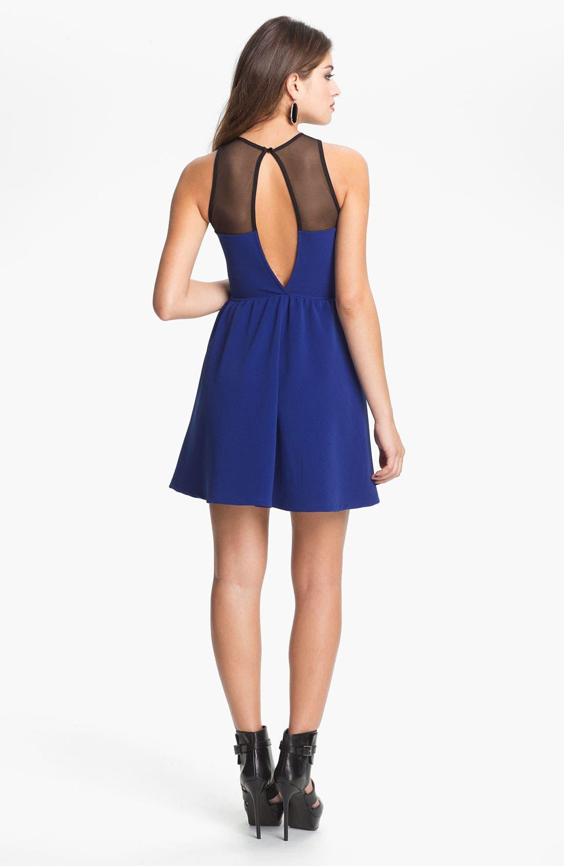 Alternate Image 2  - Lush Illusion Fit & Flare Dress (Juniors)