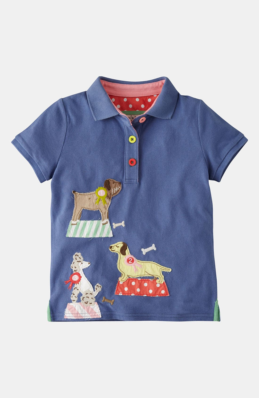 Main Image - Mini Boden Appliqué Polo (Little Girls & Big Girls)