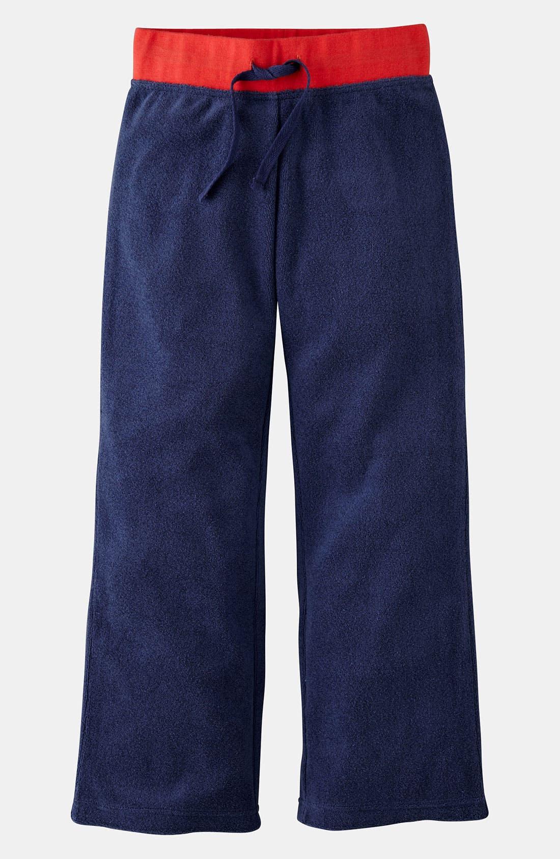 Alternate Image 1 Selected - Mini Boden 'Toweling' Pants (Little Girls & Big Girls)