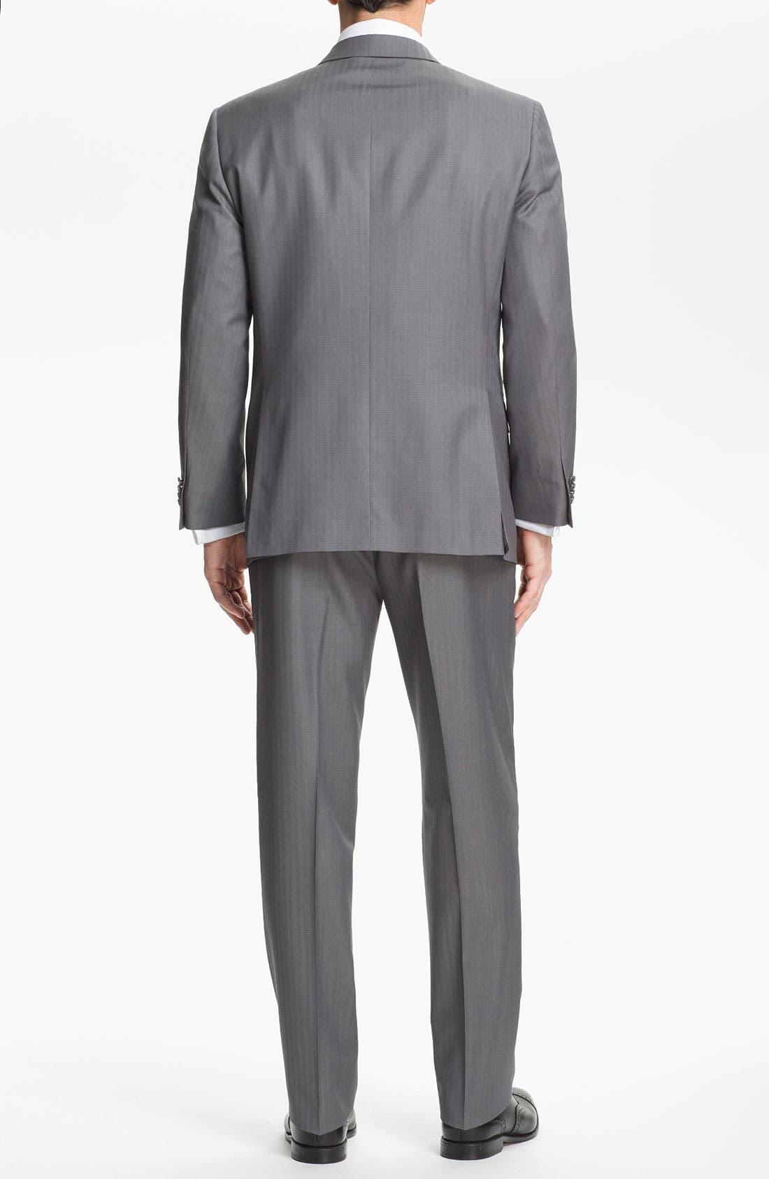 Alternate Image 3  - Hart Schaffner Marx Herringbone Suit