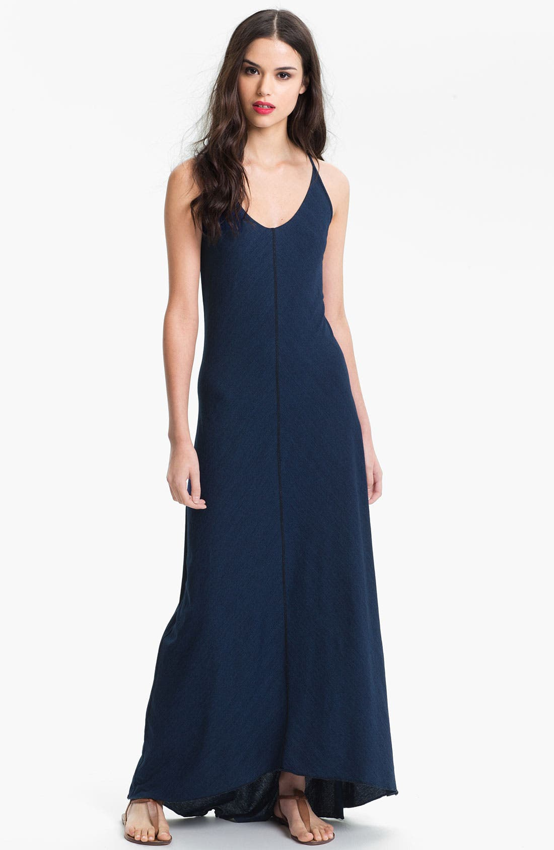 Alternate Image 1 Selected - AG Jeans Indigo Jersey Maxi Dress