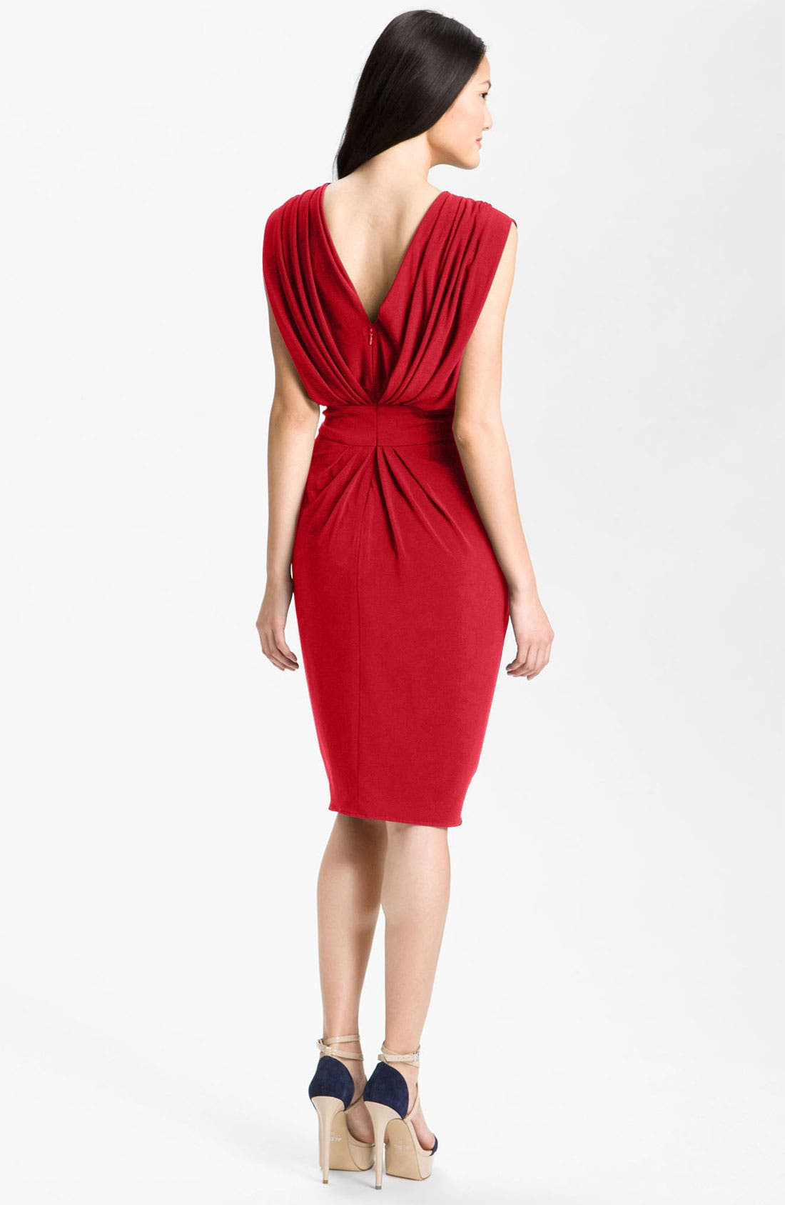 Alternate Image 2  - Suzi Chin for Maggy Boutique Double-V Draped Jersey Dress