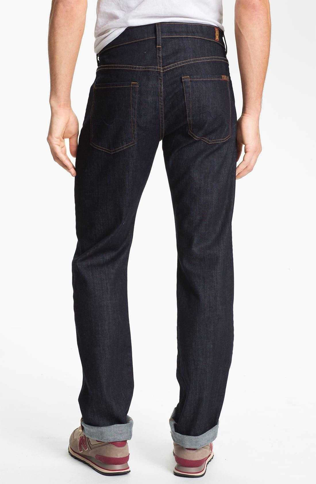 Alternate Image 2  - 7 For All Mankind® 'Carsen' Easy Straight Leg Jeans (Dark Clean)
