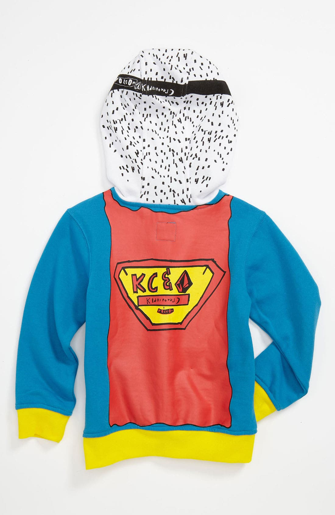Alternate Image 2  - Volcom 'Super Kreature' Zip Hoodie (Toddler)