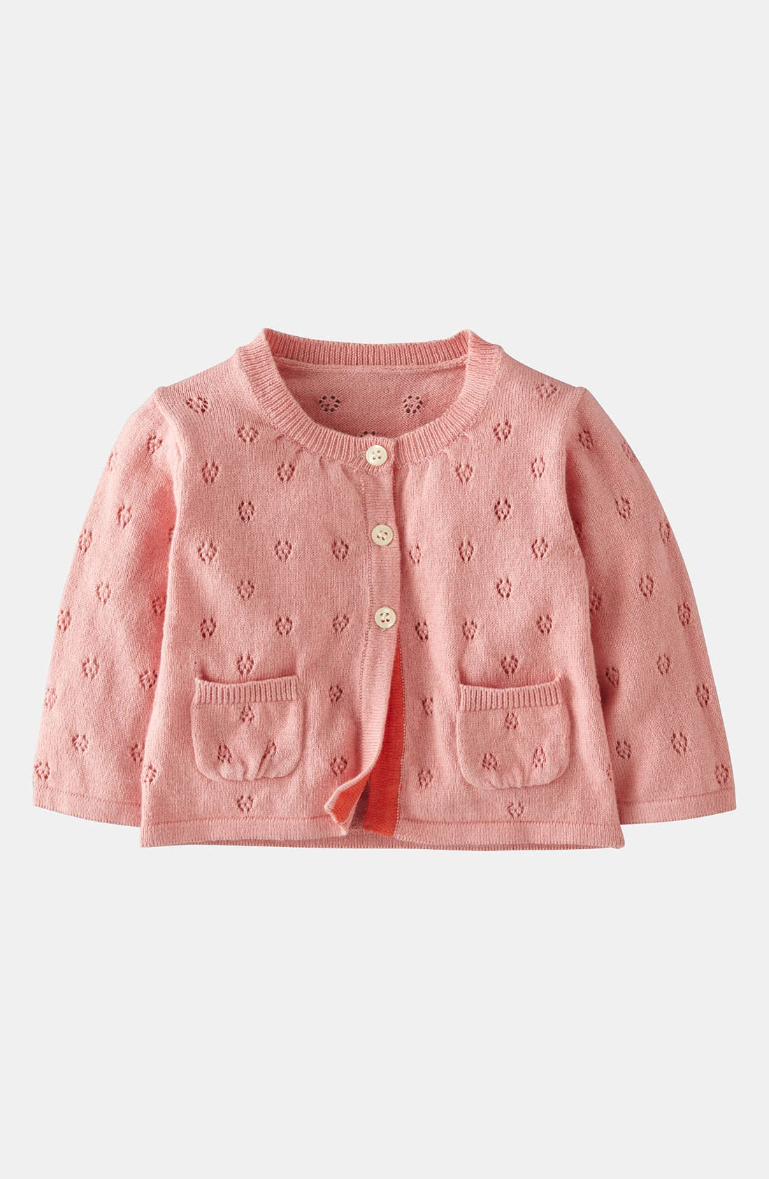 Alternate Image 1 Selected - Mini Boden Pointelle Cardigan (Baby)