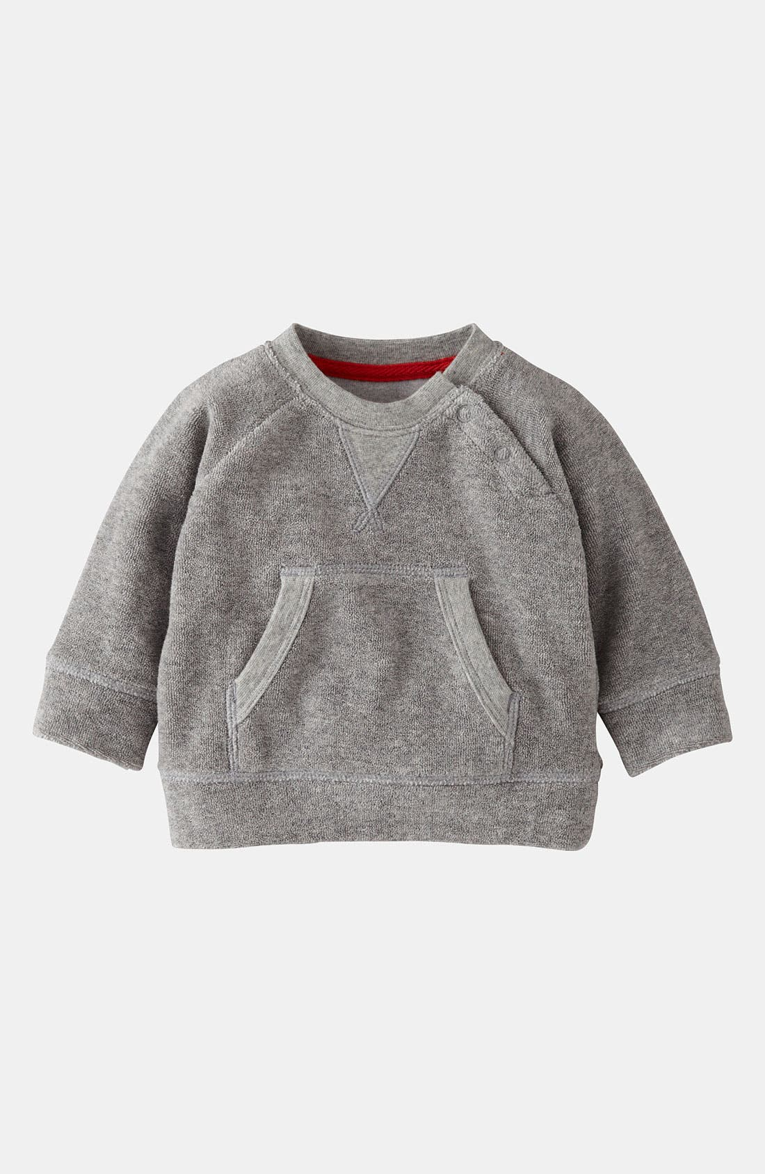 Alternate Image 1 Selected - Mini Boden 'Toweling' Sweater (Baby)