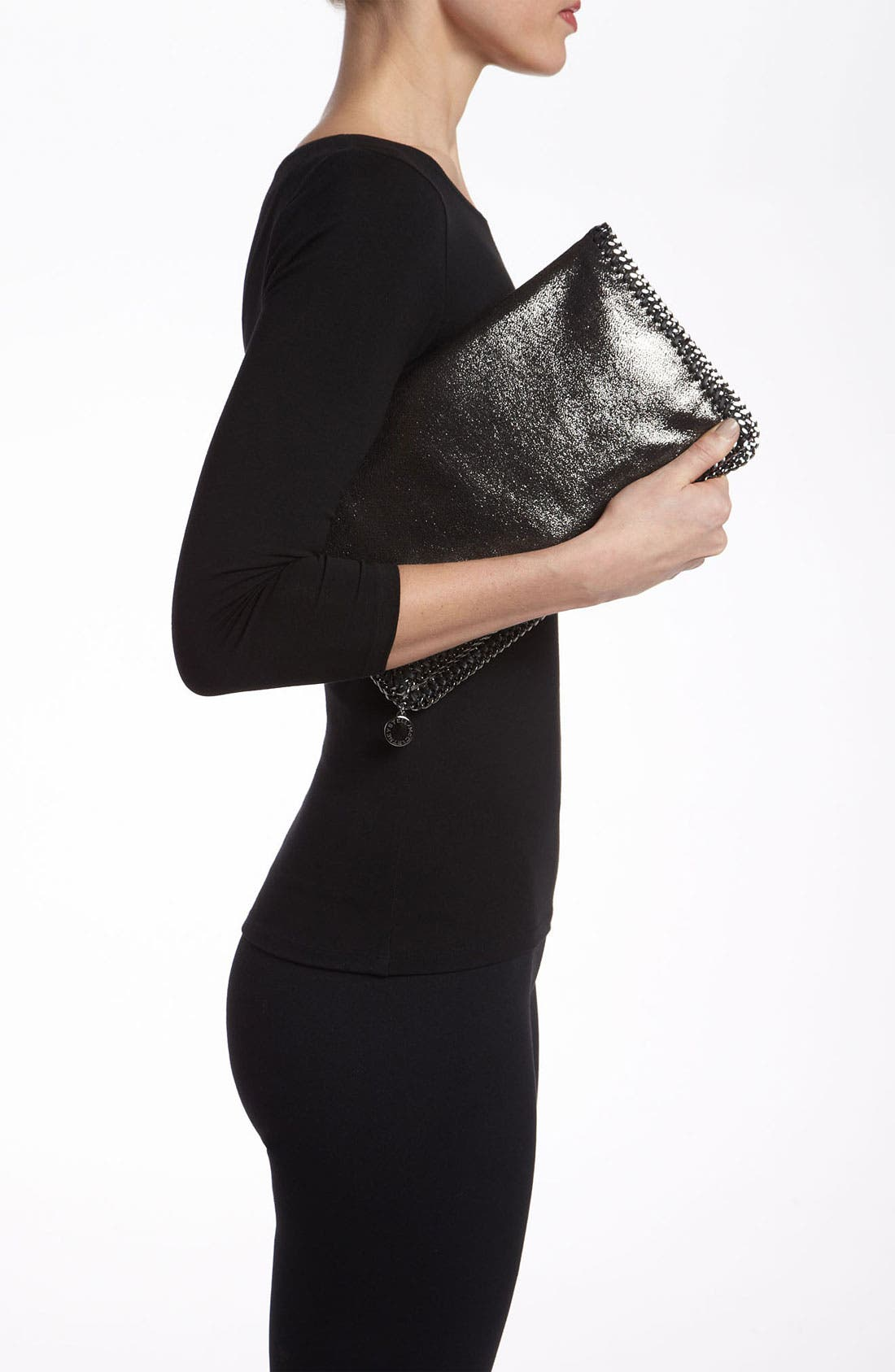 Alternate Image 2  - Stella McCartney 'Falabella' Metallic Clutch