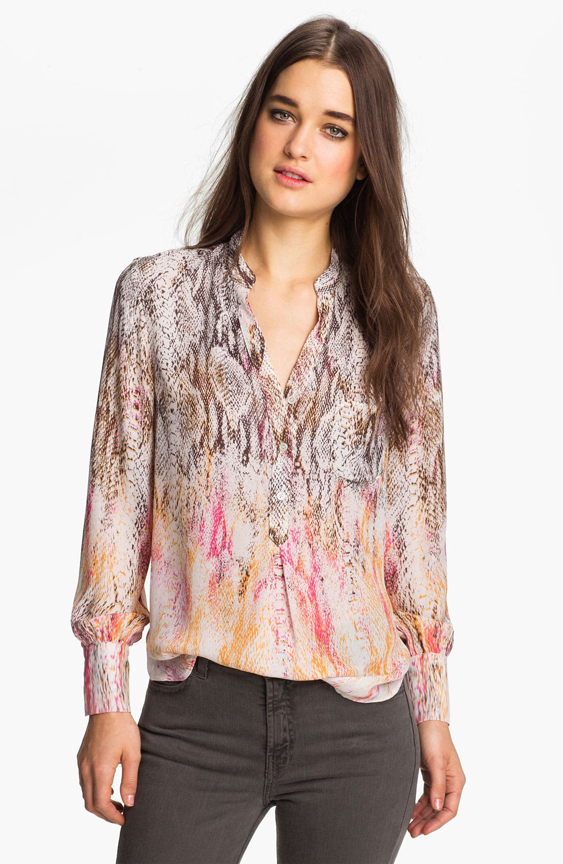 Alternate Image 1 Selected - Haute Hippie Snake Print Silk Blouse