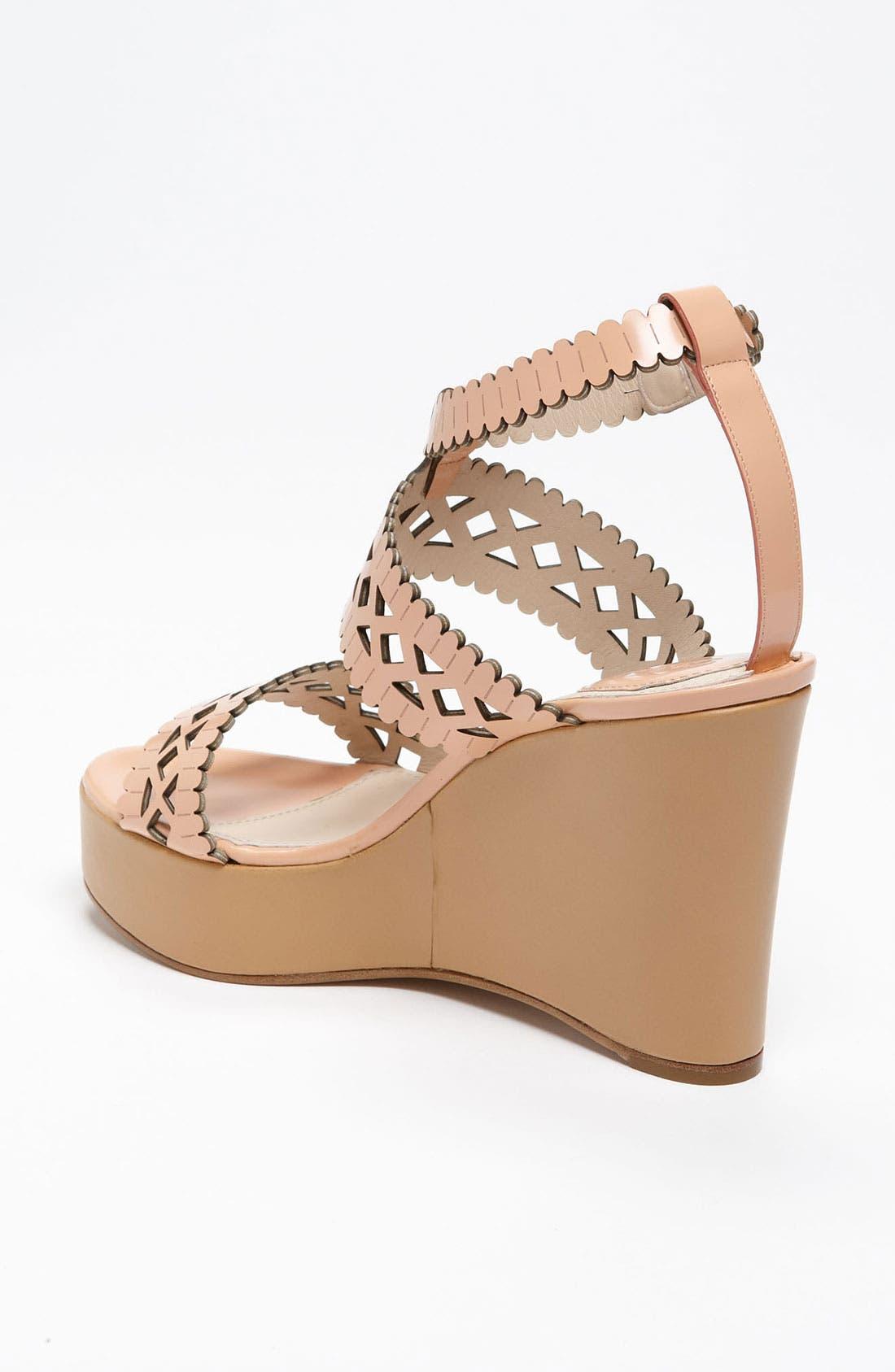 Alternate Image 2  - Chloé Laser Cut Wedge Sandal