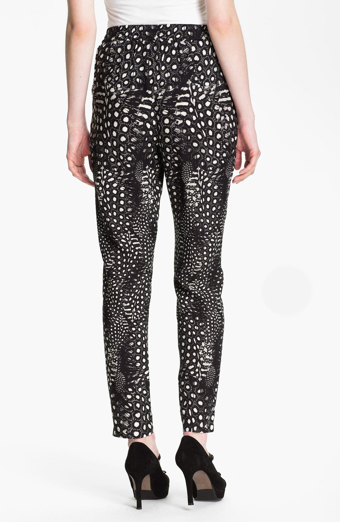 Alternate Image 2  - Cut25 Feather & Dot Print Pants