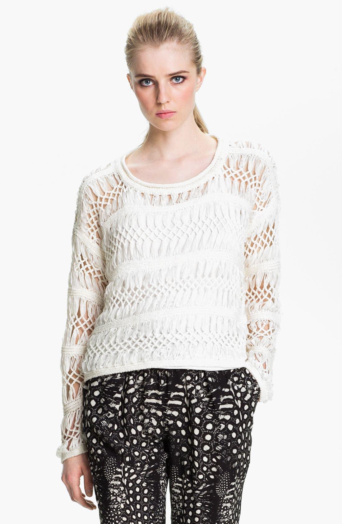 Alternate Image 2  - Cut25 Open Macramé Sweater