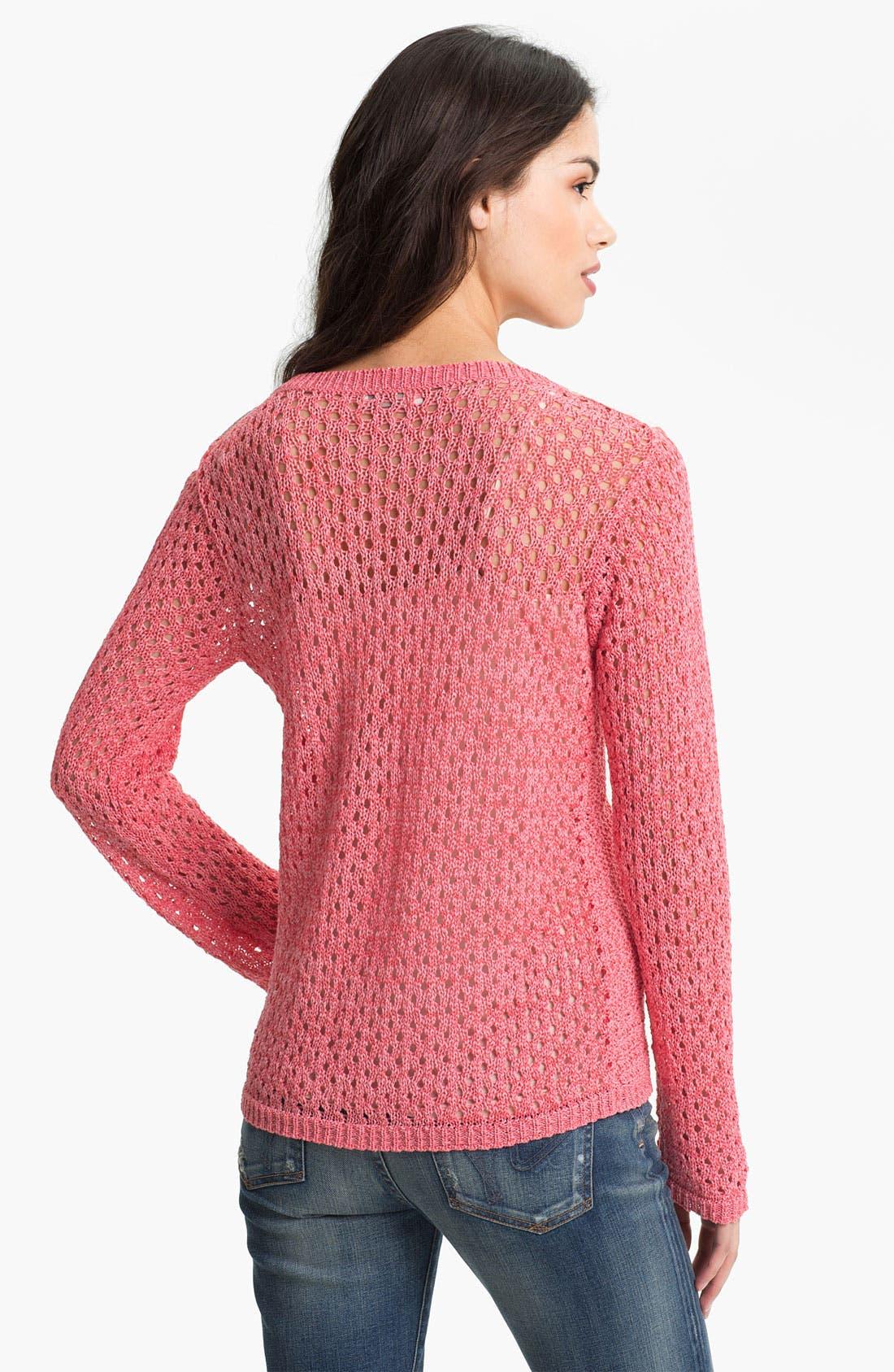 Alternate Image 2  - Hinge® Crochet Trim Sweater