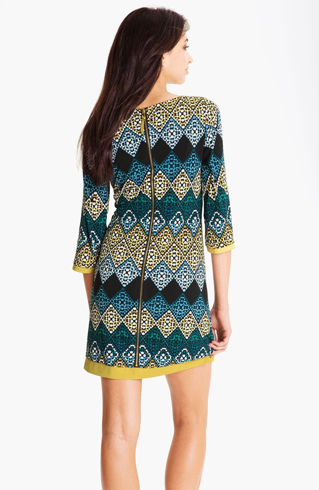 Alternate Image 2  - Eliza J Diamond Print Jersey Shift Dress