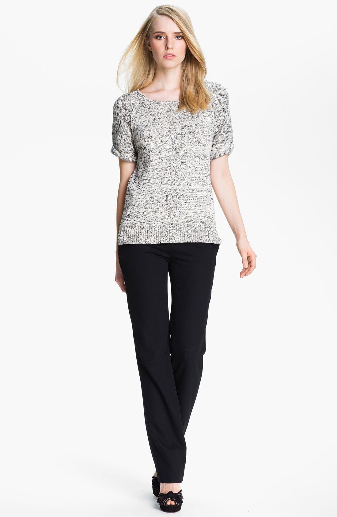 Alternate Image 1 Selected - Halston Heritage Roll Edge Mixed Yarn Sweater