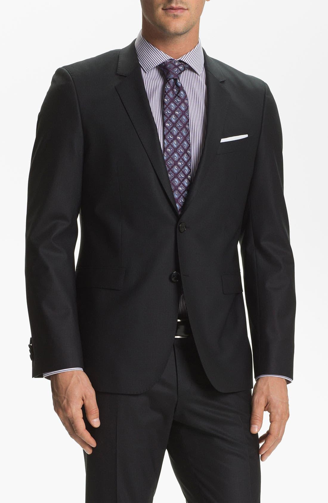 Main Image - BOSS Black 'Ryan/Win' Extra Trim Fit Suit