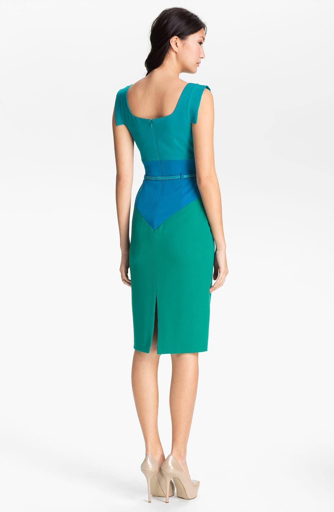 Alternate Image 2  - Black Halo 'Jackie O' Colorblocked Sheath Dress