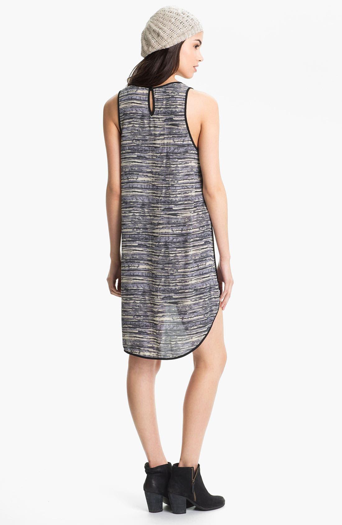 Alternate Image 2  - Lush Print High/Low Tank Dress (Juniors)