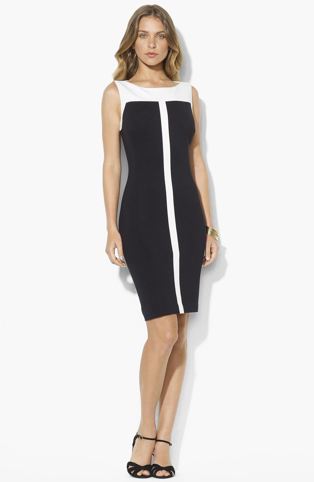 Main Image - Lauren Ralph Lauren Two Tone Sheath Dress