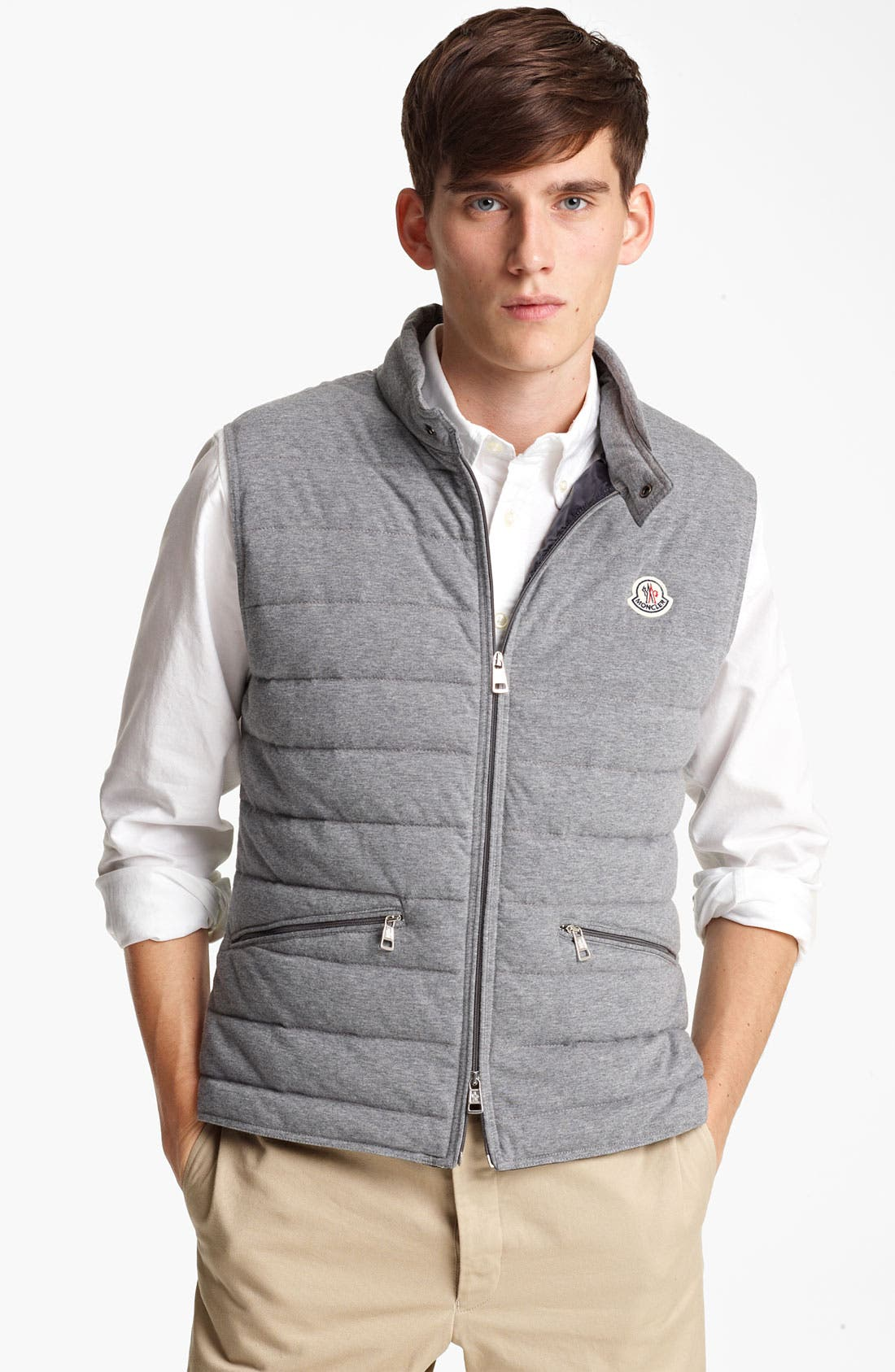 Main Image - Moncler 'Gerald' Quilted Cotton Vest