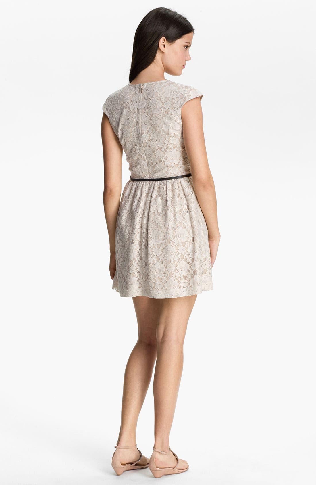 Alternate Image 2  - Kensie Floral Lace Dress