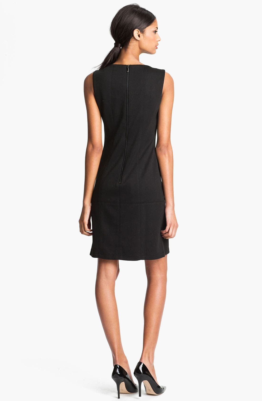 Alternate Image 2  - Vince Camuto Embellished Collar Shift Dress