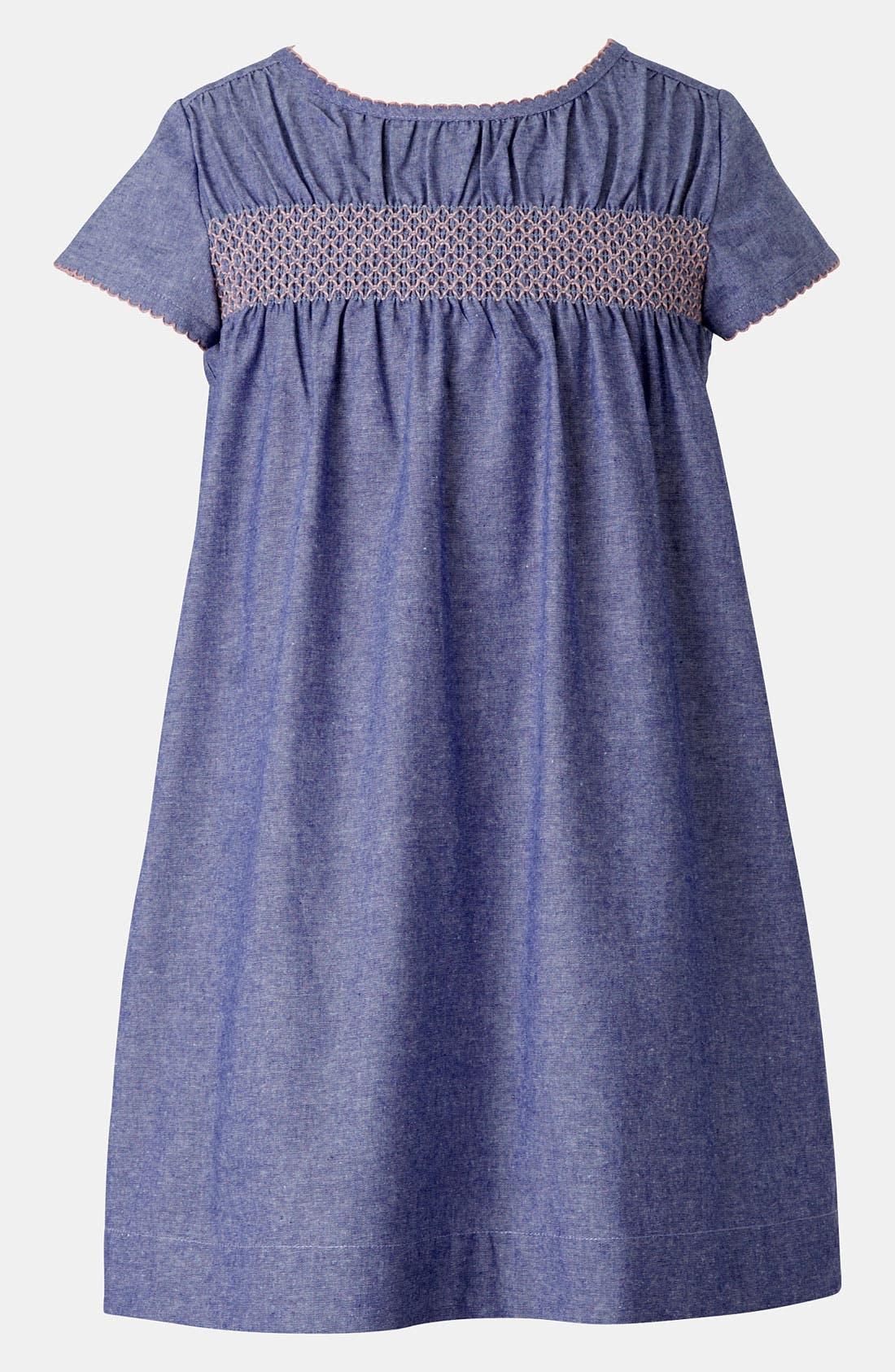 Main Image - Mini Boden Smocked Dress (Little Girls & Big Girls)
