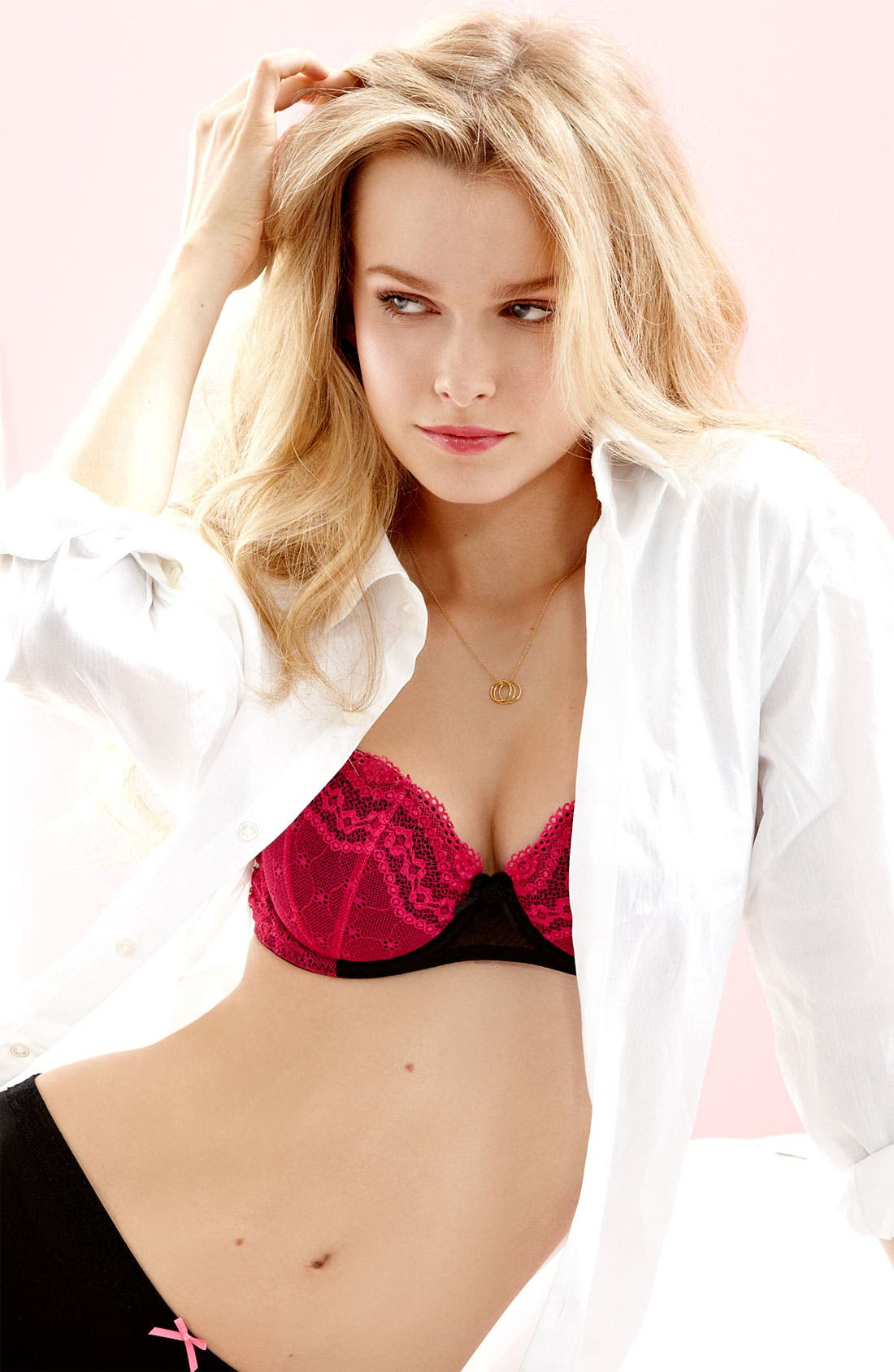Alternate Image 3  - Betsey Johnson Eyelet Lace Balconette Bra