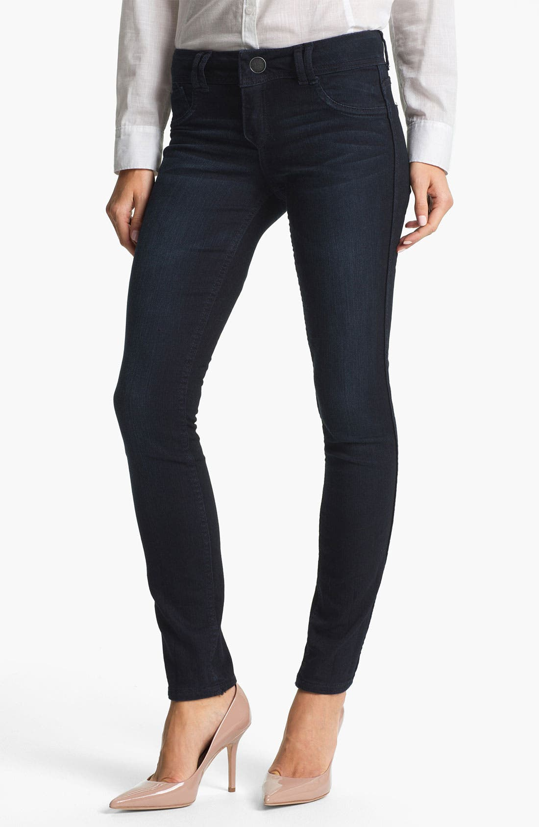 Alternate Image 5  - Wit & Wisdom Reversible Dot Print Skinny Jeans (Nordstrom Exclusive)