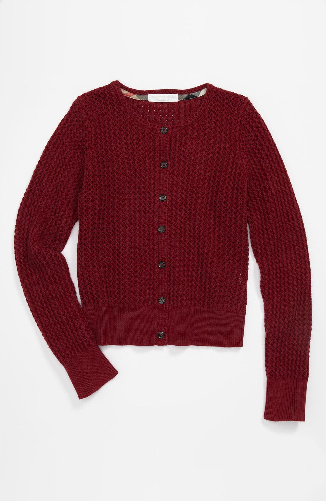 Main Image - Burberry 'Tobalt' Cardigan (Little Girls & Big Girls)