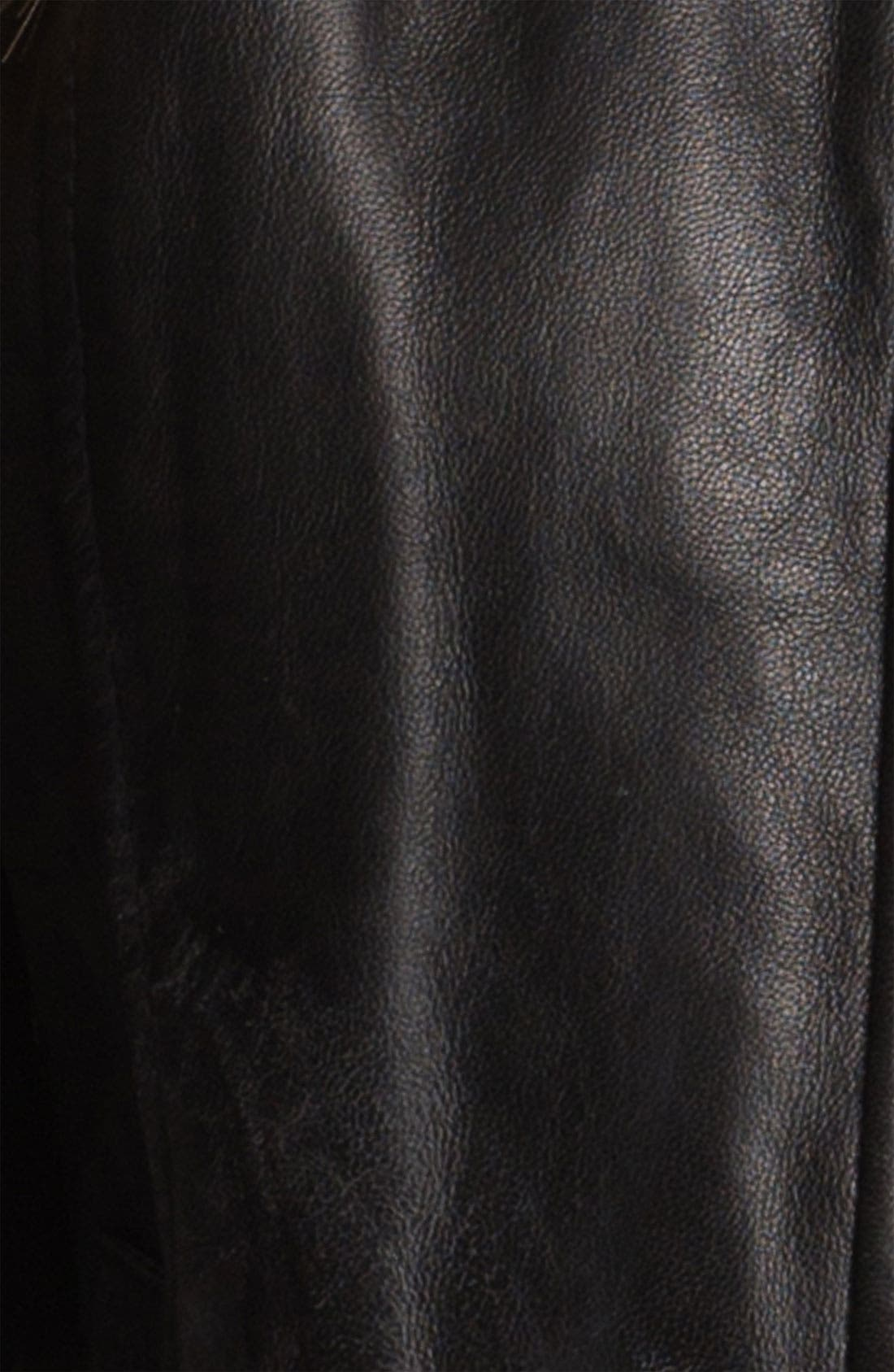 Alternate Image 5  - Classiques Entier® 'Brenna' Leather Jacket with Faux Fur