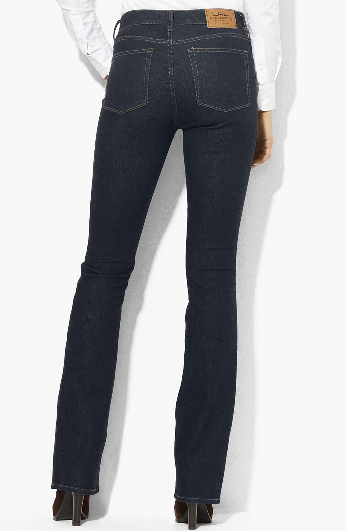 Alternate Image 2  - Lauren Ralph Lauren Slimming Bootcut Jeans (Petite) (Online Only)