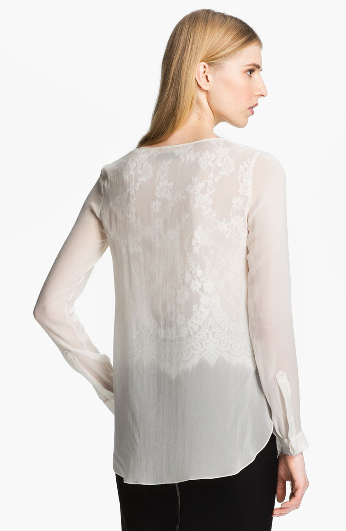 Alternate Image 3  - Robert Rodriguez Illusion Lace Shirt