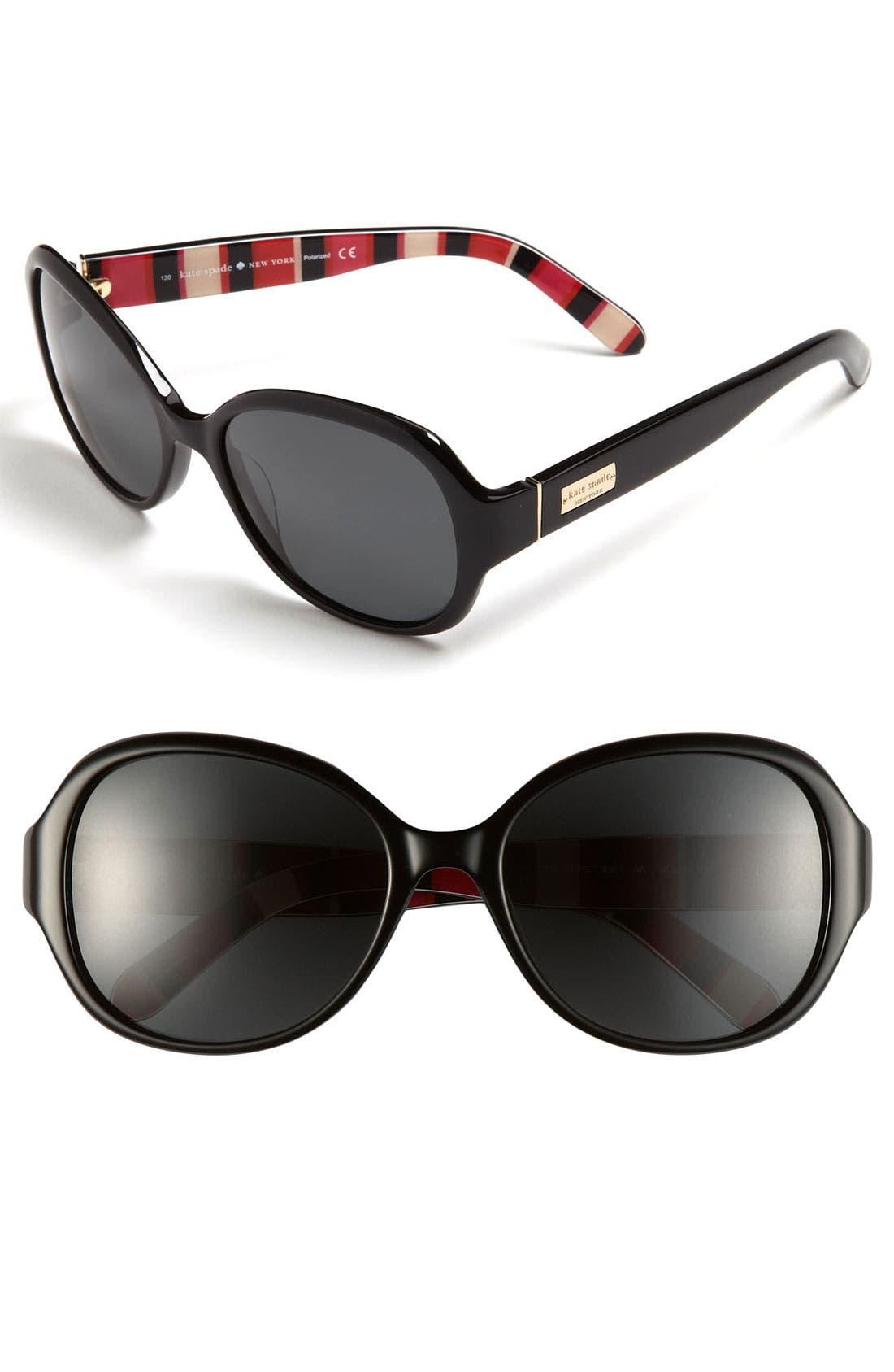 Main Image - kate spade new york 'cymone' 55mm polarized sunglasses