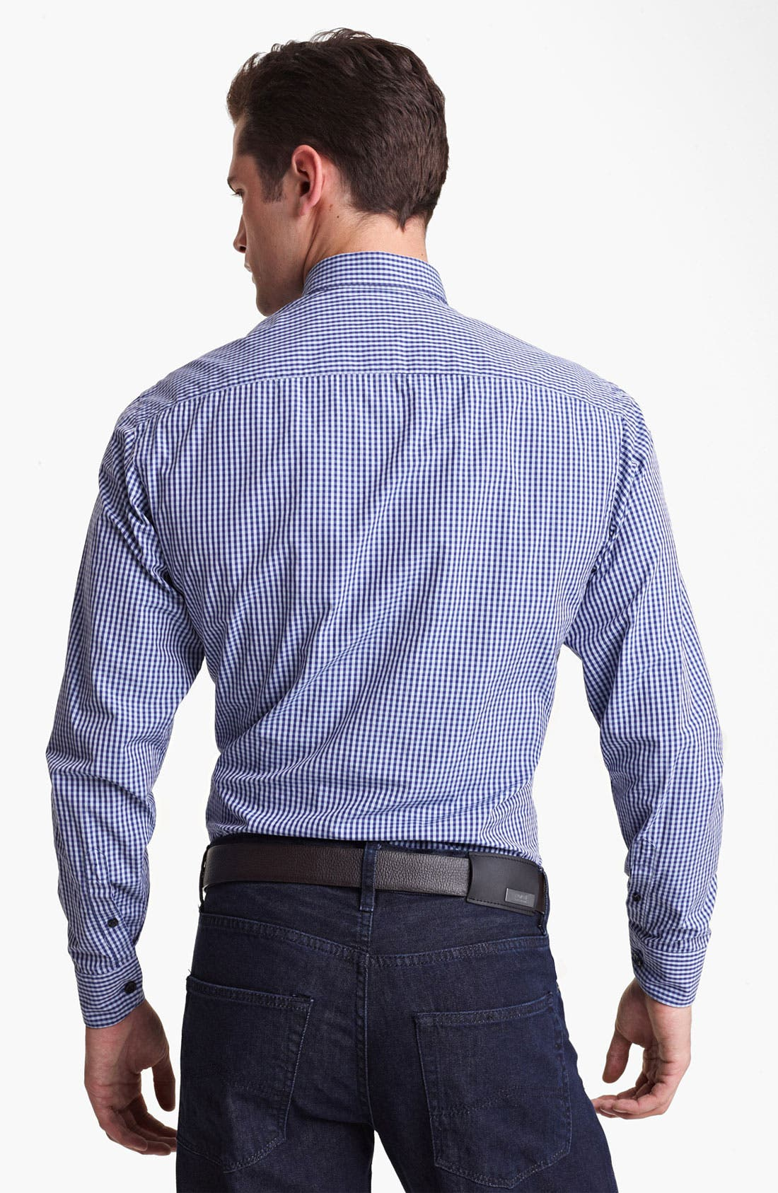 Alternate Image 2  - Armani Collezioni Gingham Sport Shirt