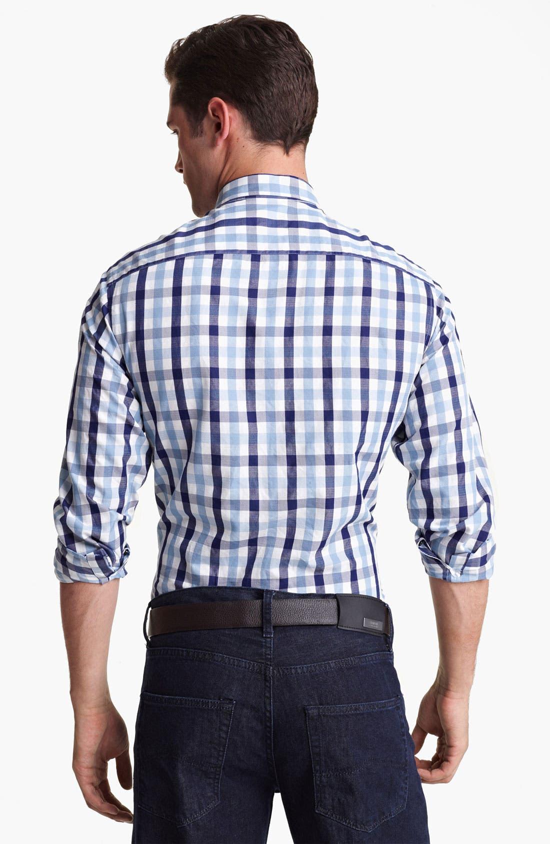 Alternate Image 2  - Armani Collezioni Double Face Cotton Sport Shirt