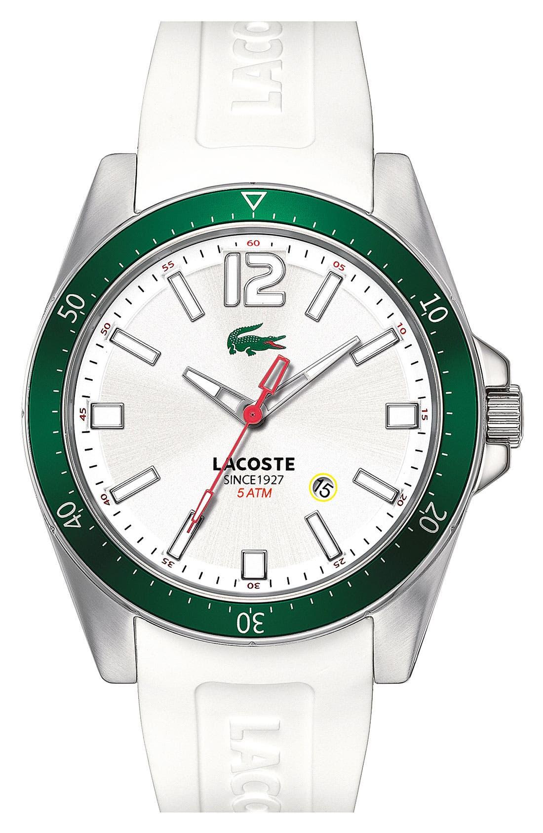 Alternate Image 1 Selected - Lacoste 'Seattle' Aluminum Bezel Watch, 43mm