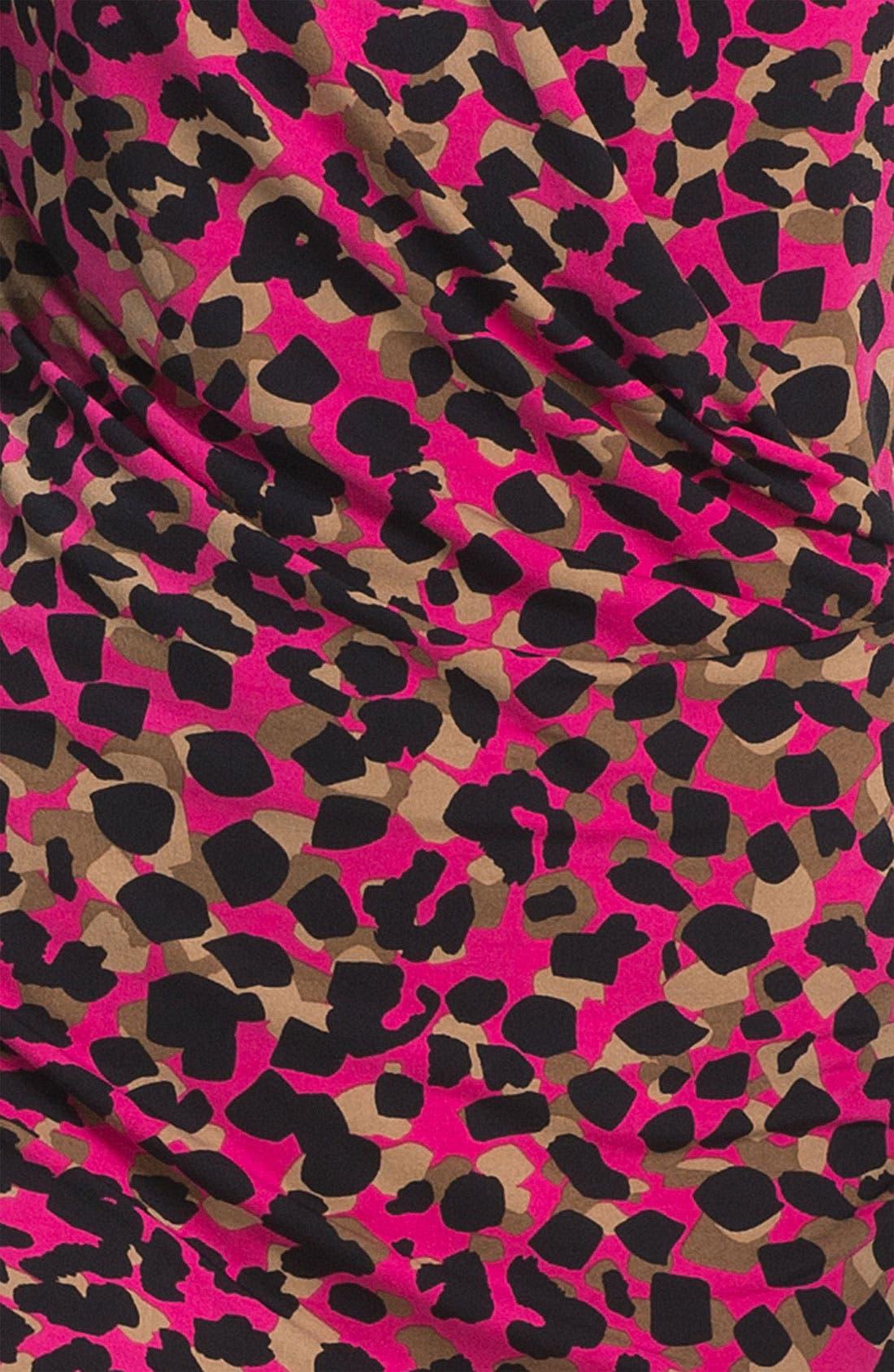 Alternate Image 3  - Anne Klein Drape Front Animal Print Dress