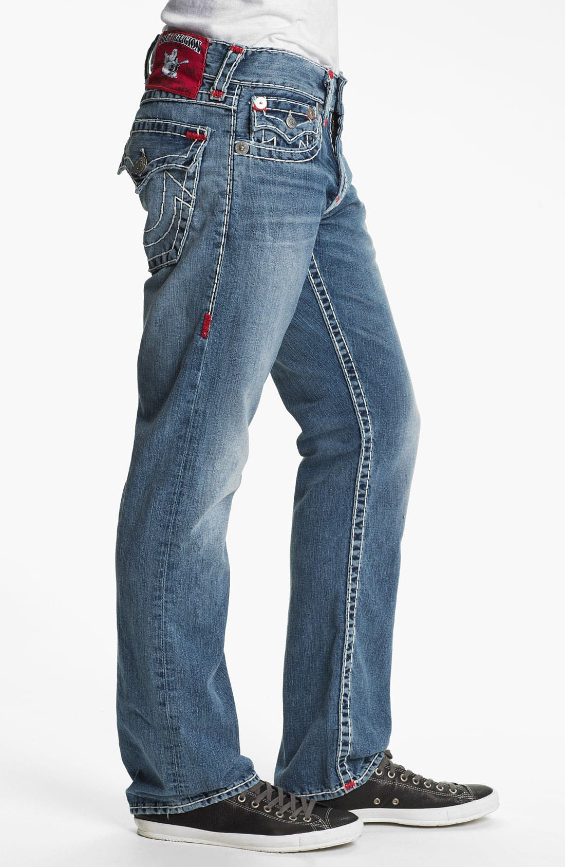 Alternate Image 3  - True Religion Brand Jeans 'Ricky' Straight Leg Jeans (Shade Horizons)