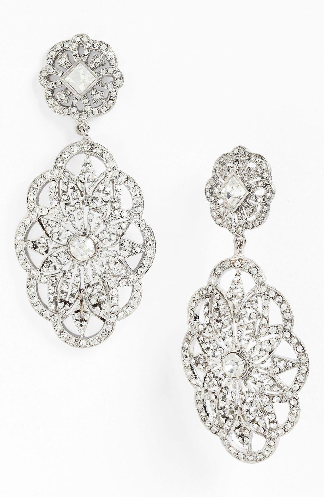 Alternate Image 1 Selected - Nina 'Bluebell Vintage' Crystal Statement Earrings