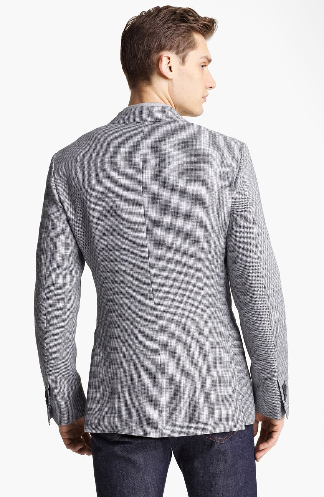 Alternate Image 2  - Z Zegna Trim Fit Linen Sportcoat