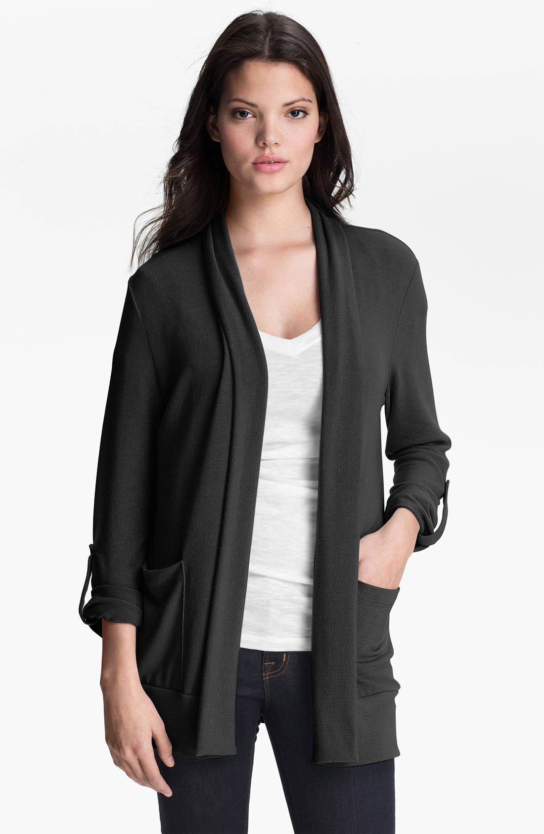 Main Image - Pleione Roll Sleeve Cardigan